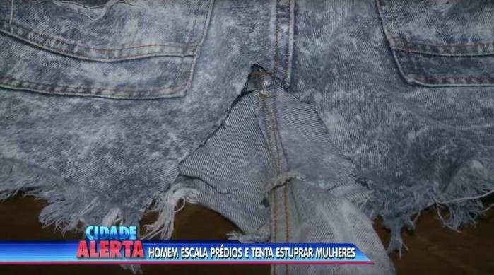 Suspeito cortou roupas das vítimas (Crédito: Reprodução)