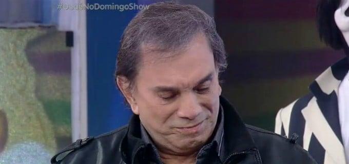 """Dedé foi homenageado no """"Domingo Show"""" (Crédito: Reprodução/ Record)"""