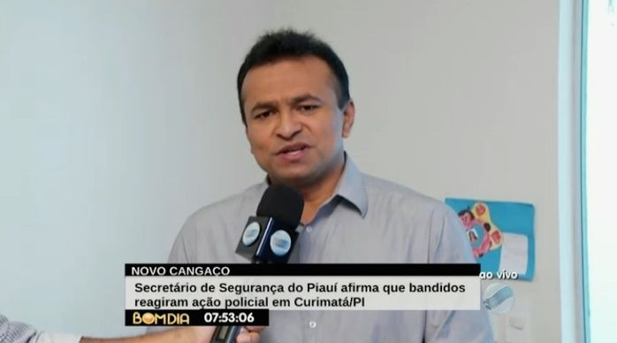 Fábio Abreu diz que bandidos reagiram a ação policial (Crédito: Reprodução)