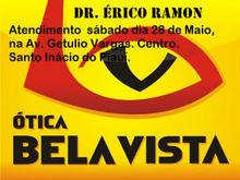 Ótica Bela Vista terá atendimento sábado 28 de Maio em Santo Inácio
