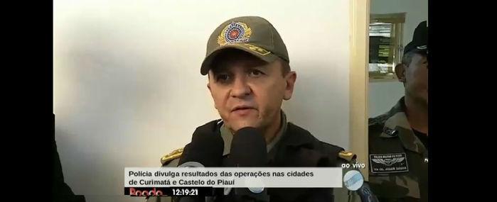 Comandante do CPI (Comando de Policiamento do Interior) Coronel Paulo de Tarso