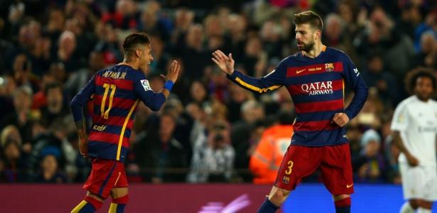 Neymar e Piqué  (Crédito: Reprodução)