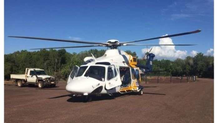 Homem foi socorrido em ambulância aérea