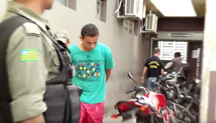 O acusado foi encaminhado para a Central de Flagrantes (Crédito: Reprodução)