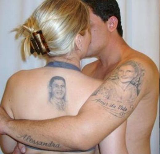 Tom veiga tem várias tatuagens para homenagear esposa