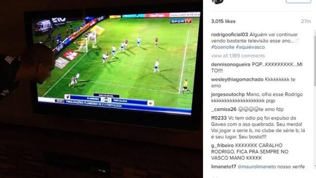 Zagueiro do Vasco provoca rival (Crédito: Reprodução)