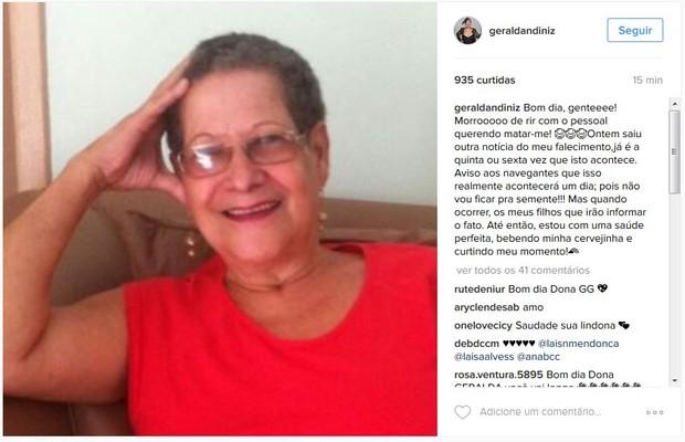 Geralda falou sobre boates de sua morte  (Crédito: Divulgação)