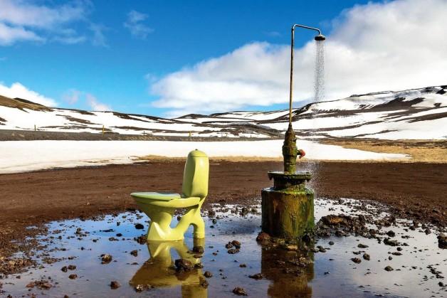 Krafla, Islândia.