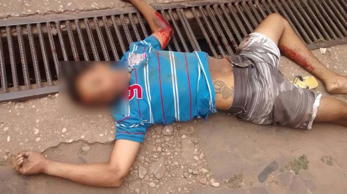 Homem morto após realizar assalto na Ceasa de Timon, no Maranhão (Crédito: Divulgação)