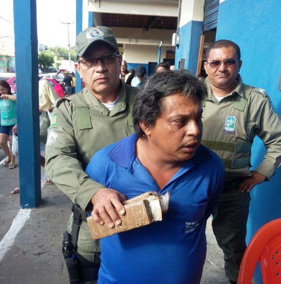 Acusado foi encaminhado para a Central de Flagrantes (Crédito: Portal do Catita)