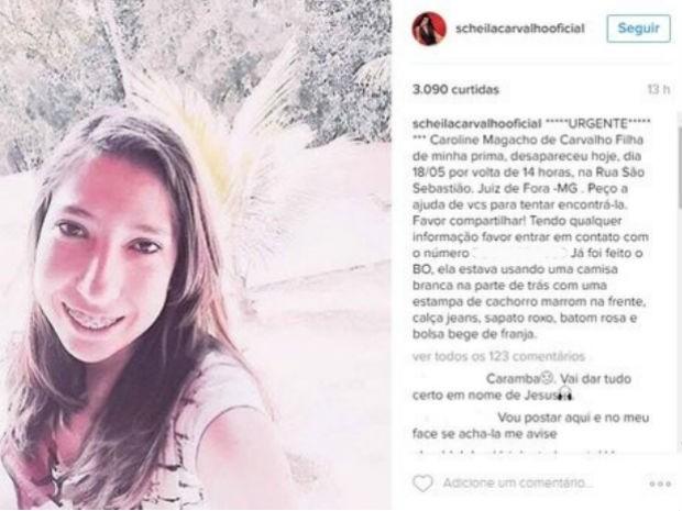 Scheila Carvalho pediu ajuda no Instagram  (Crédito: Reprodução/ Instagram)