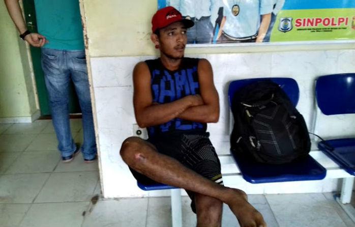 Homem preso por tráfico de drogas (Crédito: Blog do Pessoa)