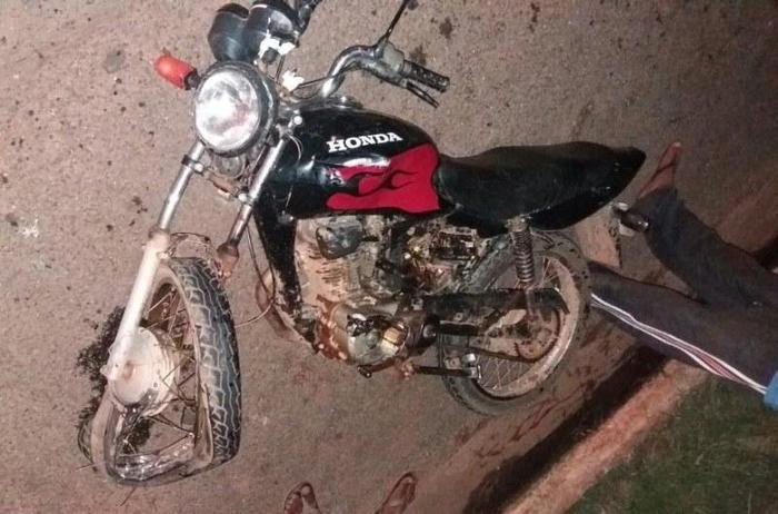 Motocicleta envolvida em acidente