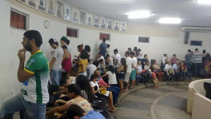 Estudantes fazem protesto em Picos