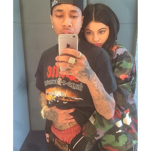Kylie Jenner e o rapper Tyga antes do término do namoro (Crédito: Reprodução/ Instagram)