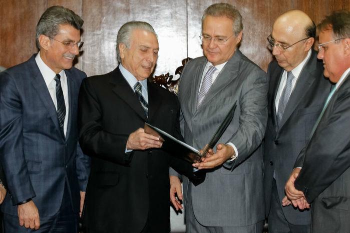 Renan confirma sessão do Congresso nesta terça-feira para votar a meta fiscal (Crédito: Presidência da Republica)