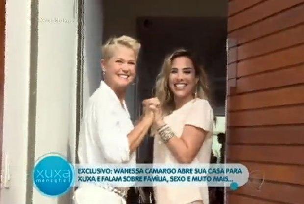 Wanesssa no programa da Xuxa (Crédito: Divulgação)