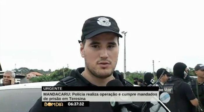 Delegado Matheus Zanatta (Crédito: Reprodução/TV Meio Norte)