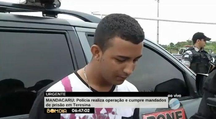 Preso acusado de tráfico (Crédito: Reprodução/TV Meio Norte)