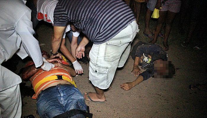 Vítima é socorrida após acidente em Piracuruca