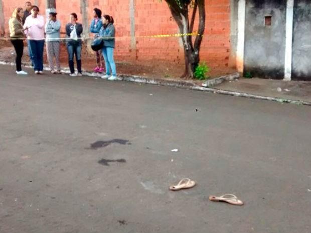Local onde o crime ocorreu (Crédito: Eric Bertola/Portal Leme News)