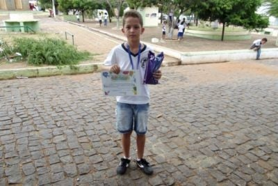 João Emanuel do 5º ano B um dos vencedores do Soletrando (Crédito: José Carlos da Silva)