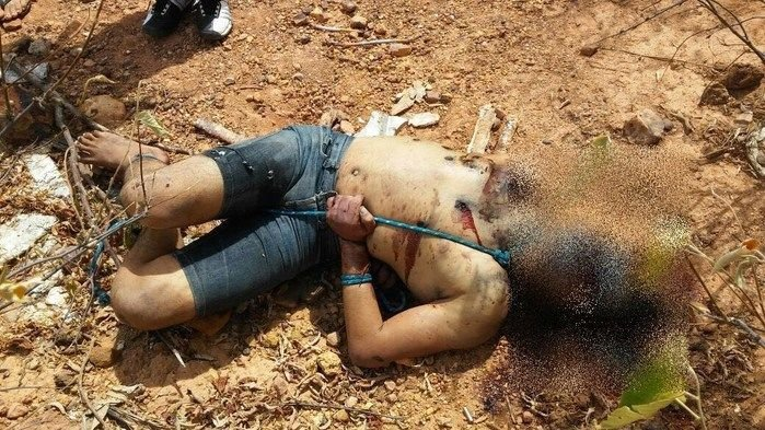 Corpo de Lucas foi encontrado amarrado (Crédito: Reprodução)
