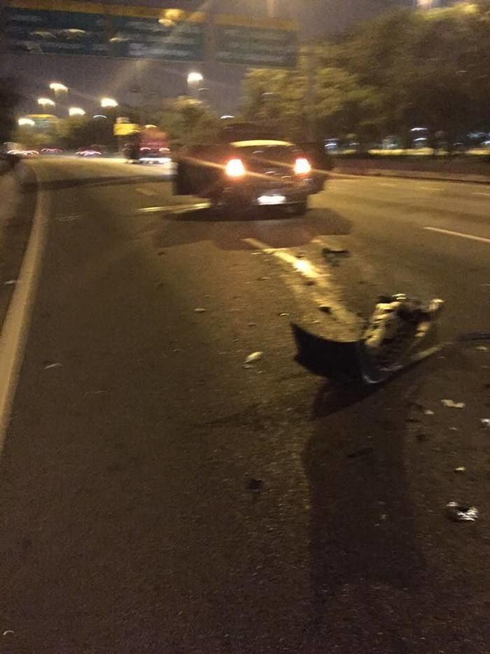 Carro envolvido em acidente com humorista (Crédito: Facebook)