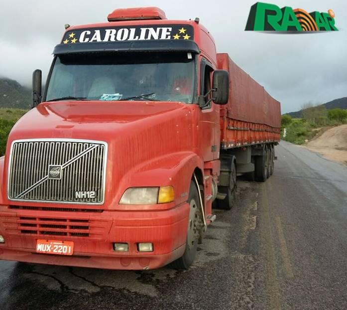 Caminhão dirigido por Bilson Carvalho