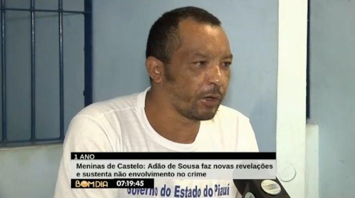 Adão faz revelações sobre o crime (Crédito: Reprodução/TV Meio Norte)