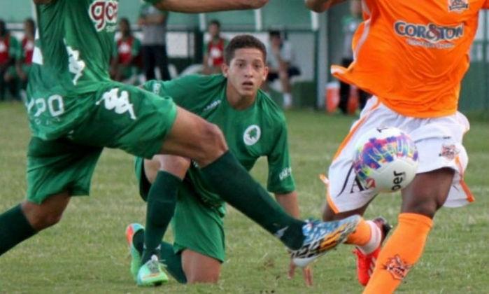 Lucas Perdomo em partida do Boavista contra o Nova Iguaçu, pela Copa Rio de 2015 (Crédito: Boa Vista)