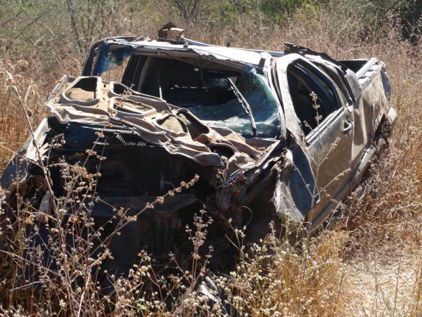 Capotamento deixa motorista ferido na PI 143 próximo a Oeiras (Crédito: Reprodução)