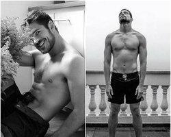 Cauã Reymond e Marco Pigossi posam sem camisa para capa de revista