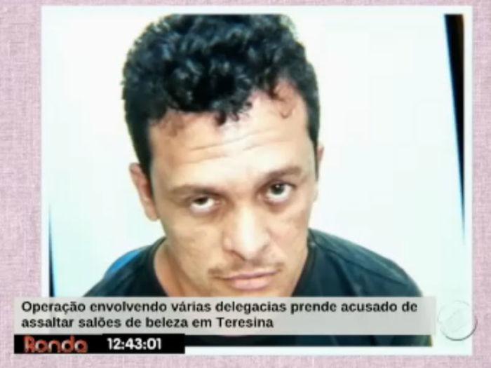 Casal é preso após realizar vários assaltos a salões de beleza   (Crédito: Reproduçõa TV Meio Norte )