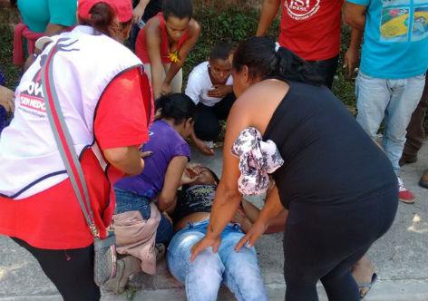Militante foi baleada durante passeata (Crédito: Reprodução)