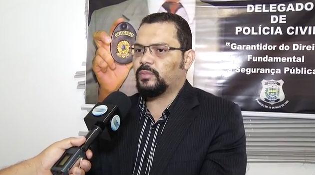 Madson de Oliveira, titular da 10ª Delegacia de Polícia (Crédito: Reprodução/ TV Meio Norte)