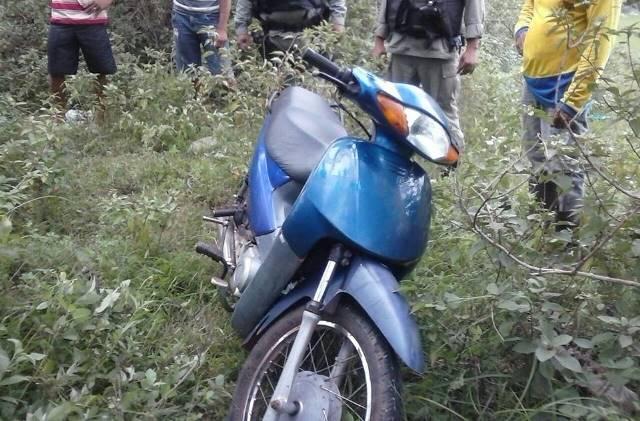 Motocicleta recuperada (Crédito: Reprodução)