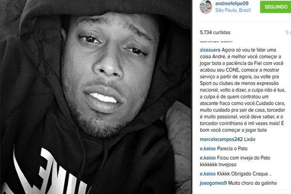 Postagem de André recebeu mais de 18 mil comentários após o erro  (Crédito: Reprodução)