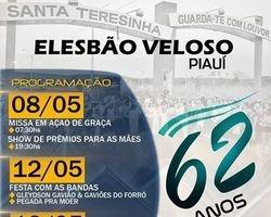 Elesbão Veloso completa 62 anos, veja programação de aniversário