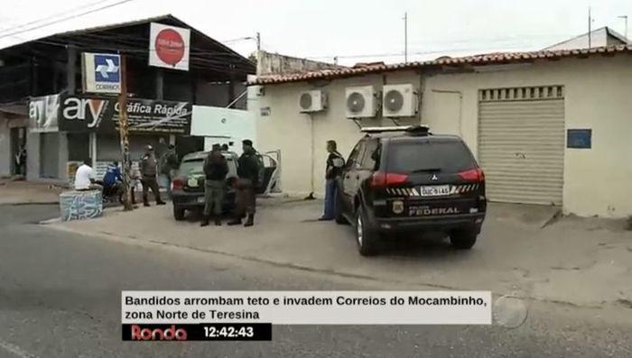 Bandidos arrombam Correios do Mocambinho (Crédito: Divulgação)