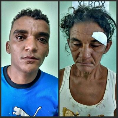 Acusado é preso após agredir sua mãe (Crédito: Reprodução)