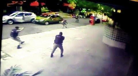 Vídeo mostra o momento da execução (Crédito: Reprodução)