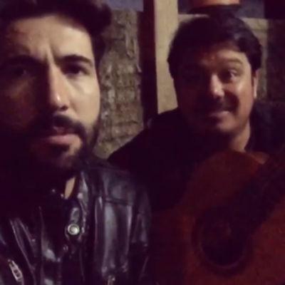 Sandro Pedroso com o irmão Júlio