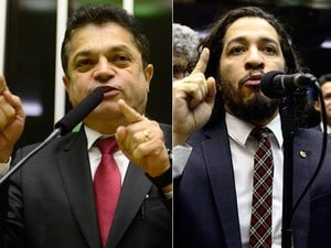 Montagem com os deputados João Rodrigues (PSD- SC) e Jean Wyllys (PSOL-RJ) (Crédito: Reprodução)