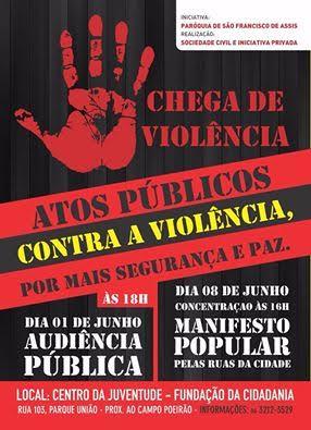 Cartaz das ações contra a violência
