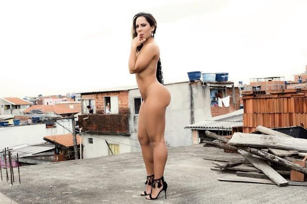 Mulher Melão nua na Sexy (Crédito: Divulgação)