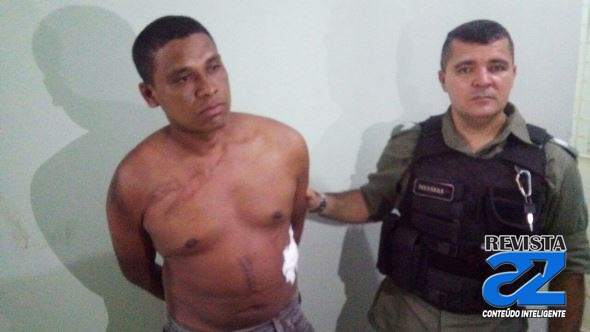Homicida preso pela polícia (Crédito: Reprodução)