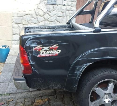 Carro de Naldo foi atingido por caminhão  (Crédito: Divulgação)