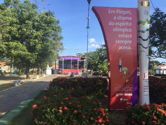Preparação para a Tocha em Piripiri (Crédito: Reprodução)