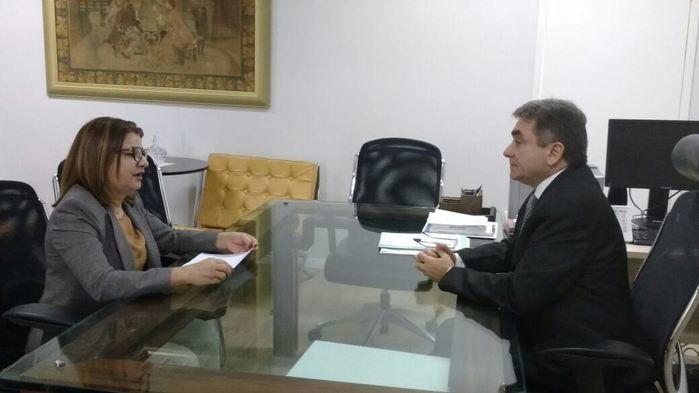 Graça Morim conversou com o corregedor-geral de Justiça do Piauí, Ricardo Gentil Eulálio,